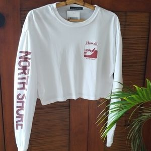 North Shore Oahu Island Hawaii Crop Long Sleeve
